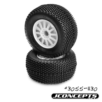 JConcepts Subcultures And G-Locs 2.8″ Tires Now Pre-Mounted On White Rulux Wheels