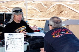 A tale of two track owners - Hot Rod Hobbies' Jimmy Babcock is running tomorrow's short course race program, while OCRC's Robert Black is here laying down some laps!