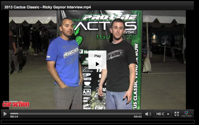 2013 Cactus Classic: Thursday Night Interview with Ricky Gaynor