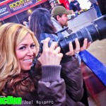 Ronda Drake confiscated my camera to do a little race coverage of her own.
