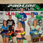 2012 4WD Modified Short Course podium: Dakotah Phend, Joern Neumann, Hupo Honigl