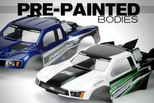 pre-painted short course bodies