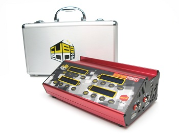 Racers Edge PRIME CUBE200 Lipo/NiMH Charger: Charge 4 packs at the same time!