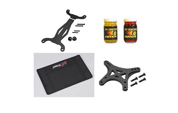 New Products: HobbyKing TrackStar Work Mat, Hy-Traction Juice Tire Compound, And JConcepts Kyosho RB6 Carbon Fiber Option Parts [June 11]