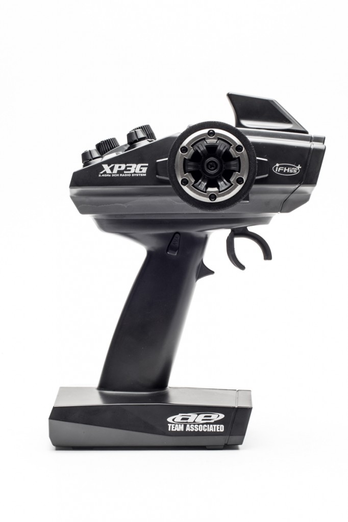 The Rival is spec'd with the XP3G transmitter, a 3-channel version of the 2.4GHz FHSS radio also used in the Pro-Lite 4x4 and Apex Touring [Reviewed in issue]