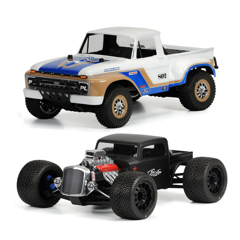 New Pro-Line gear: '66 F-150, Rat Rod for monsters, Trencher pre-mounts, more