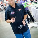 Traxxas's Brian Rueth was on hand to flight demo their QR-1 quad-rotor helicopter.