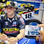 Motorcross Superstar, Davi Millsaps, was on hand to sign autographs for his fans.