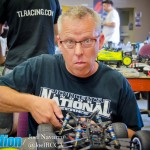 OCRC Raceway owner Robert Black wrenching on his ride.