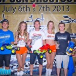 2wd Mod Truck Winners - 1st Ryan Cavalieri, 2nd Kevin Motter, 3rd Ryan Matesa.