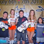 Pro4 Sportsman Winners - 1st Nick Gildark, 2nd Matt Thornton, 3rd Baby Girl