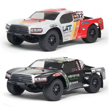Associated adds Monster Energy & Toyota styles to SC10 2WD and 4X4 RTR lineup