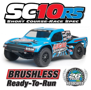 Team Associated SC10RS RTR Updated With Lucas Slick Mist Body