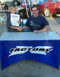 Mason Fuller and X Factory's Paul Sinclair. Photo credit: X Factory
