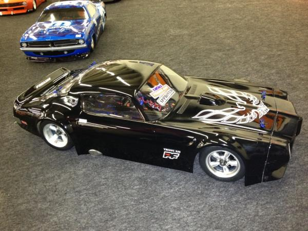 "PROTOform's new Trans Am body!  Note ""Approved"" sticker on windshield."