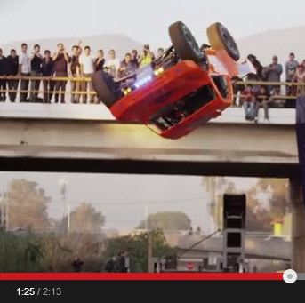 Barrel-Roll Jump With Full-Size Truck–Nails the Landing!
