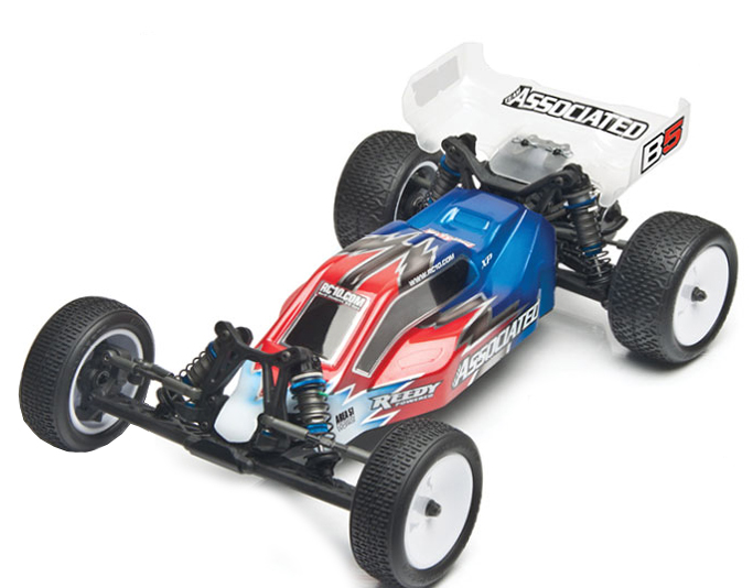 The styling of Associated's new 2WD body is more aggressive than their past buggies and from the looks of the fin over the roofline and the step angle of the rear section, it looks like this body will produce a lot of downforce.