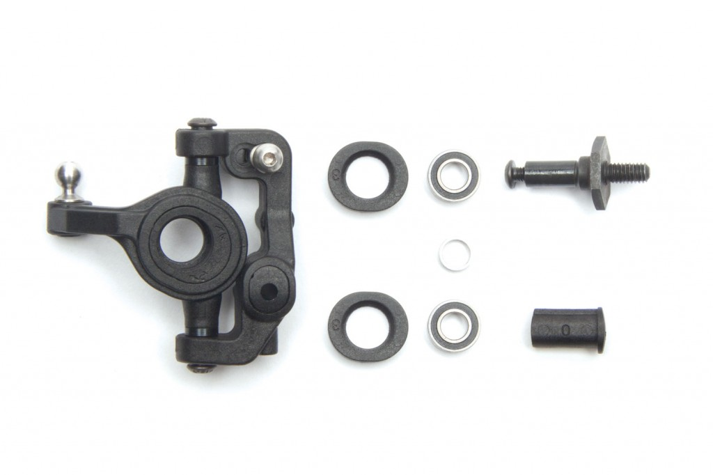 Gone are the days of different blocks for caster and trailing link steering. Associated has developed a new block insert system that lets you make changes without extra parts.