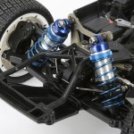 All four corners of the Mini WRC get large bore shocks with 7mm shafts and threaded adjusters.