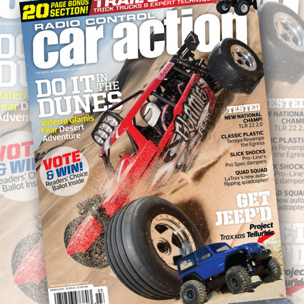 "March RC Car Action On Sale Now With Bonus ""Trail & Scale"" Section"