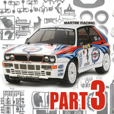 Part 3: Tamiya XV-01 Lancia Delta Integrale Build