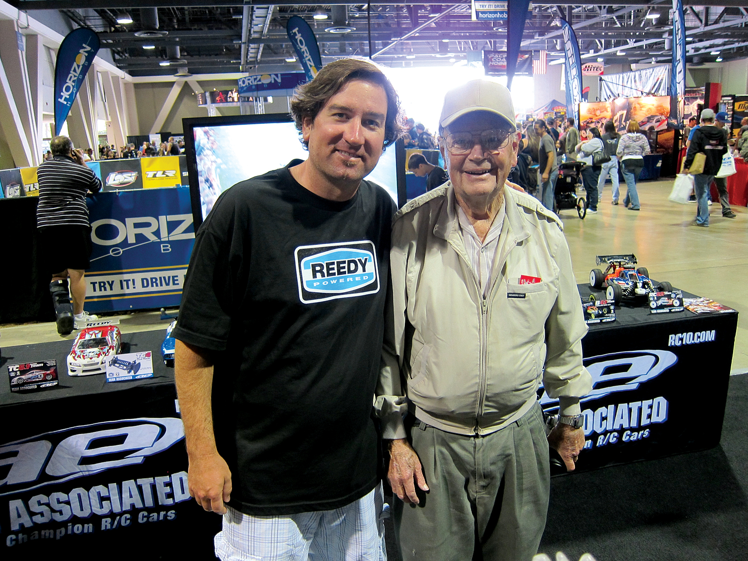 Gene was a fixture at the track as well as tradeshows.