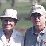 Gene with friend and partner Mike Reedy. Gene, Mike and Roger Curtis are all inductees in the RC Hall Of Fame.