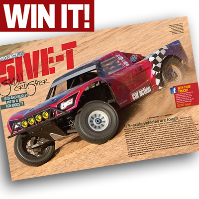 Last Chance to Win Our TGN-Equipped Losi 5IVE-T!