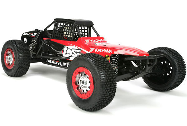 The XXX-SCB was a narrowed version of Losi's short course truck at the time, and wore a slender body with beadlock-style wheels.