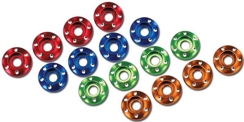 Machined-Aluminum-Blue-Wheel-Nut-Washers
