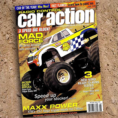 Throw Back Thursday, August 2002: Kyosho Mad Force, Losi XXXNT Adam Drake, Car of the Year and more…..