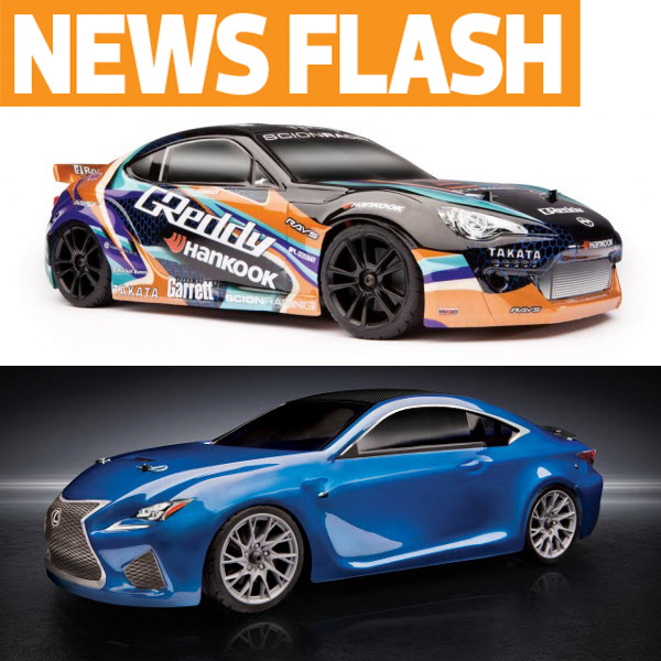 Team Associated Apex Now Available With Scion Racing FR-S GReddy & Lexus RC F Bodies