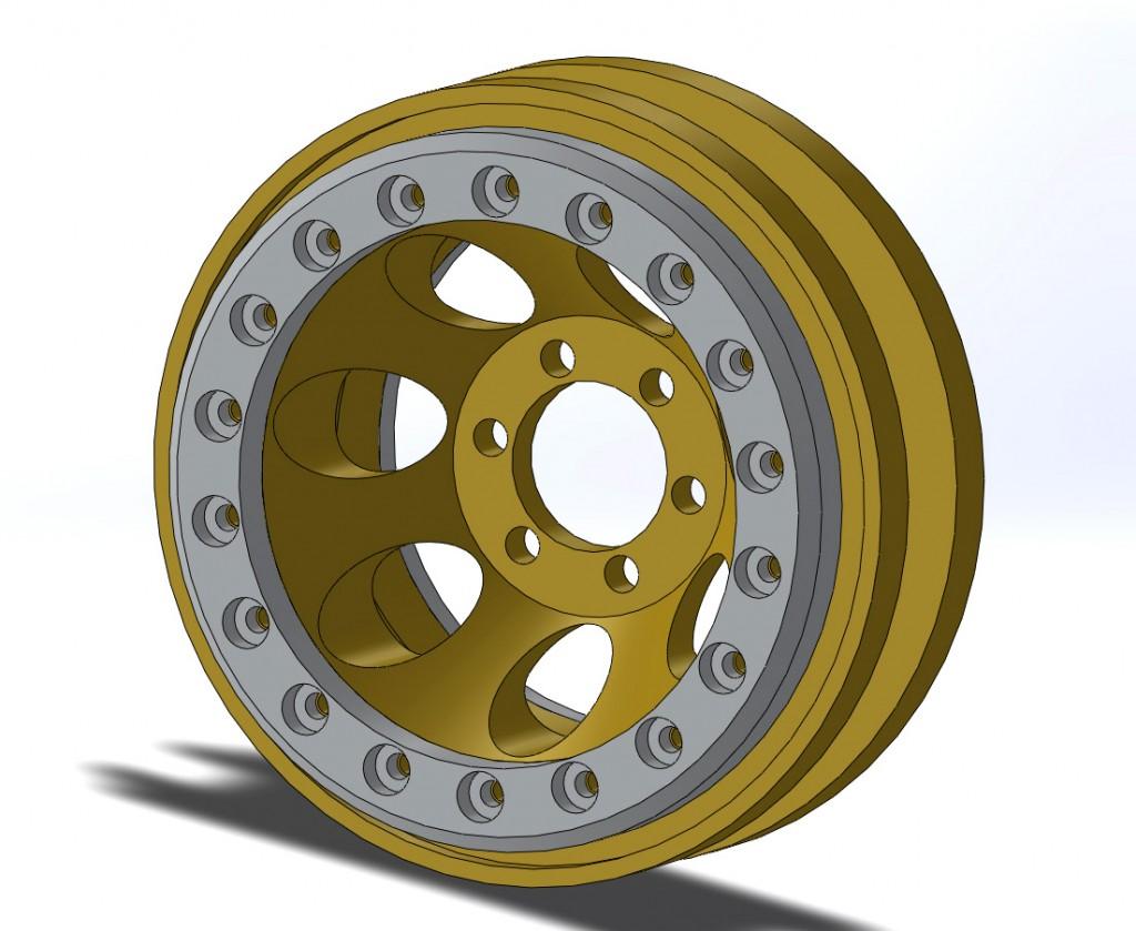 brass wheel assembly