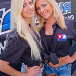 From Russia with love. Trophy girls Natasha and Elena were on hand to present trophies and raffle prizes.