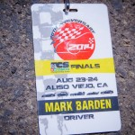 Each racer received an official credentials and a pit mat.