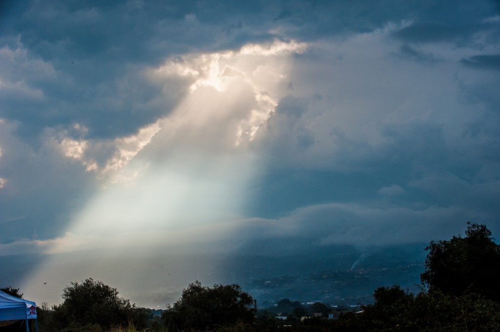 Sunshine was rare as the day progressed.