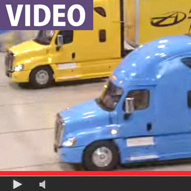 Watch NASCAR's Brad Keselowski Wheel a Tamiya Freightliner