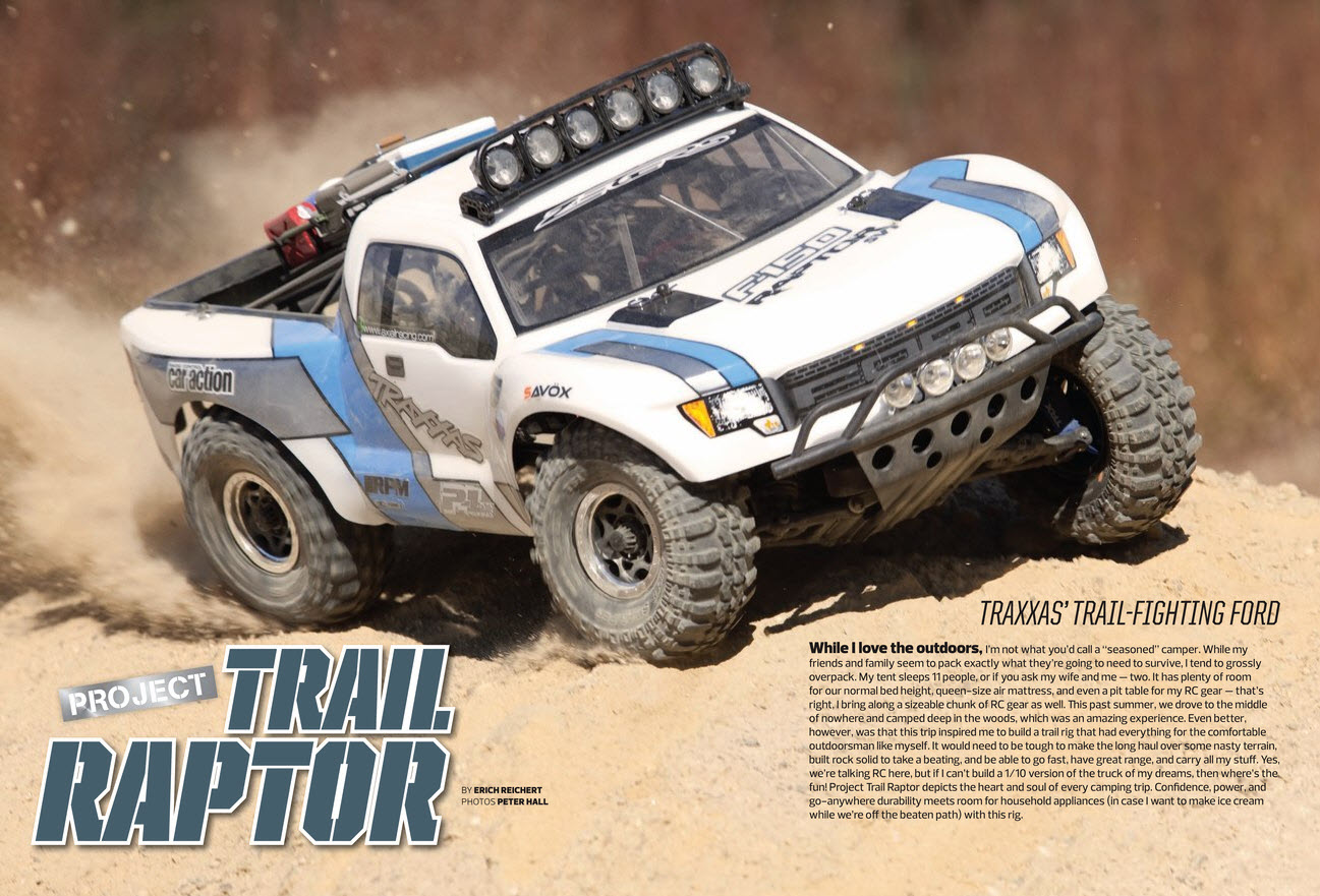 electric rc truck with Project Traxxas Trail Raptor on 380231 besides Review Axial Scx10 Jeep Wrangler Unlimited Cr Edition Rtr furthermore Beach Utility Truck additionally 20349 additionally Project Traxxas Trail Raptor.