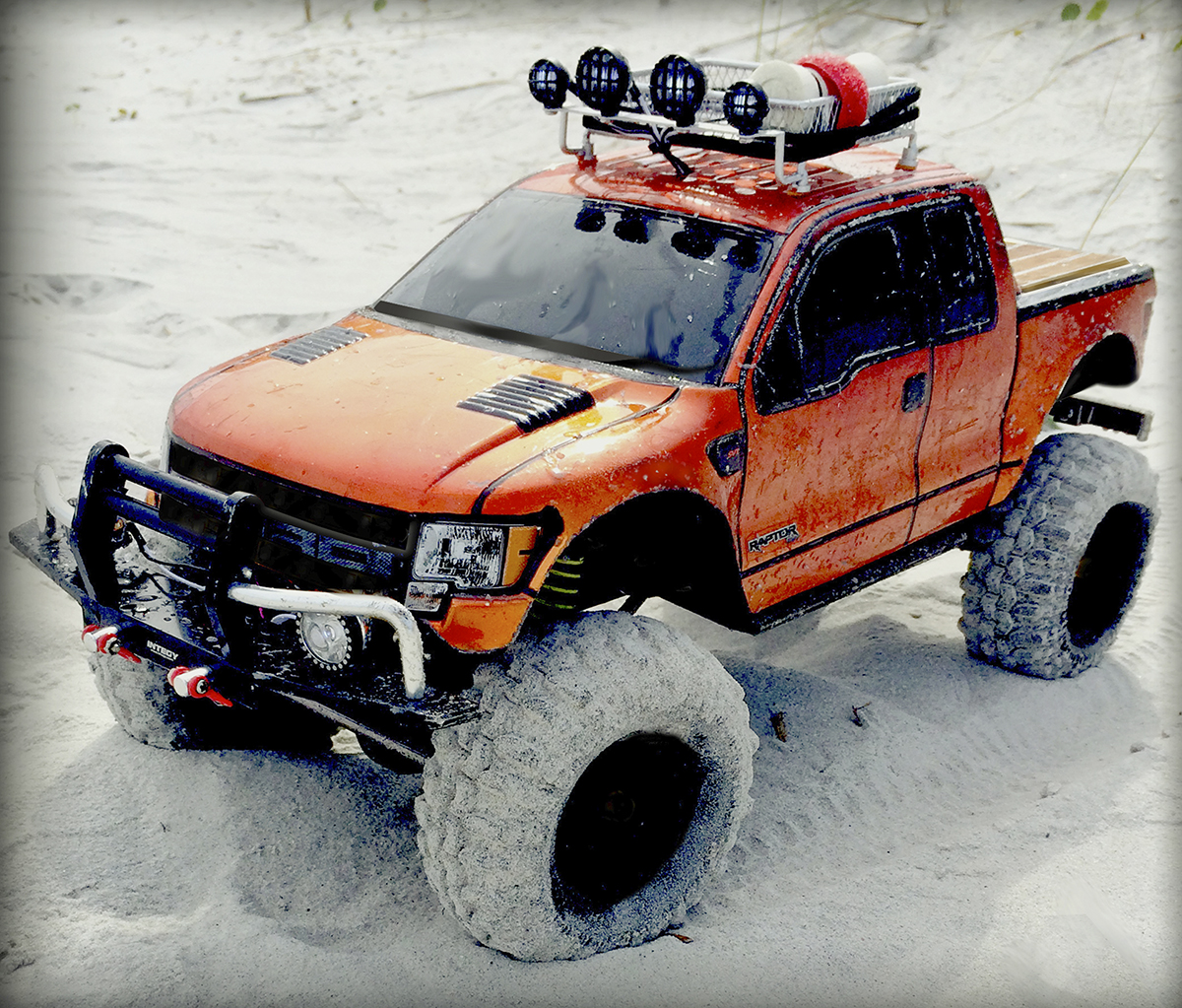 Charles Mcninich S Axial Scx10 Ford F 150 Raptor Rc Car