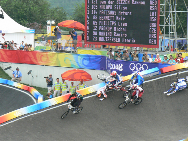 BMX is a successful event at the Olympics and includes asphalt for the running surface.