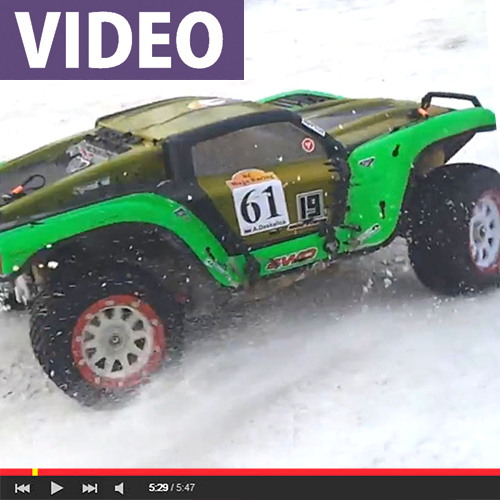 WATCH: 1/5 Scale Snow Racing