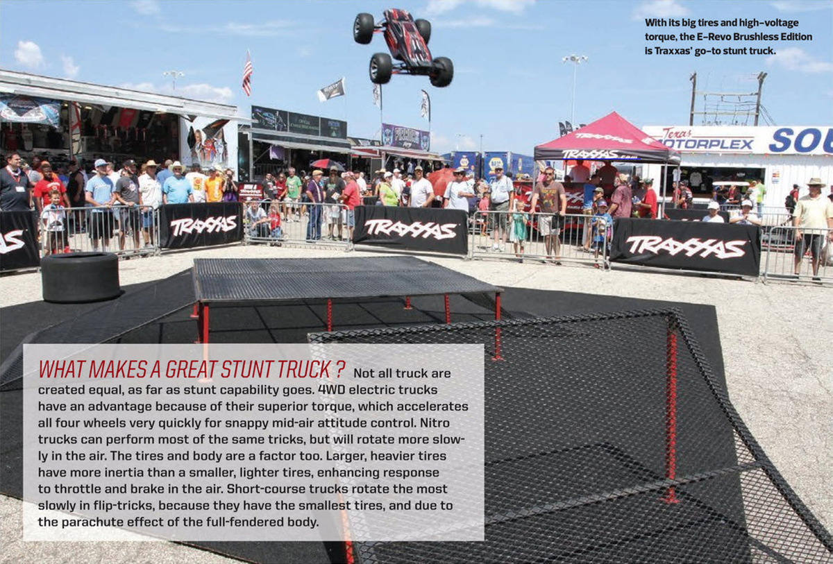 Traxxas Stunt Team, E-Revo, Jump, Flip, Back flip, Backflip, Combo, How-to,We show you how, RC, electric