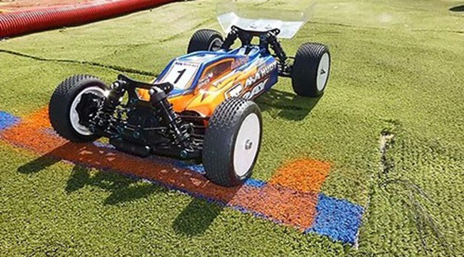 XRAY is just one manufacturer that has committed their line of electric buggies to running on high-grip surfaces.