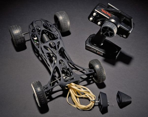 3D printed rubber band car 2