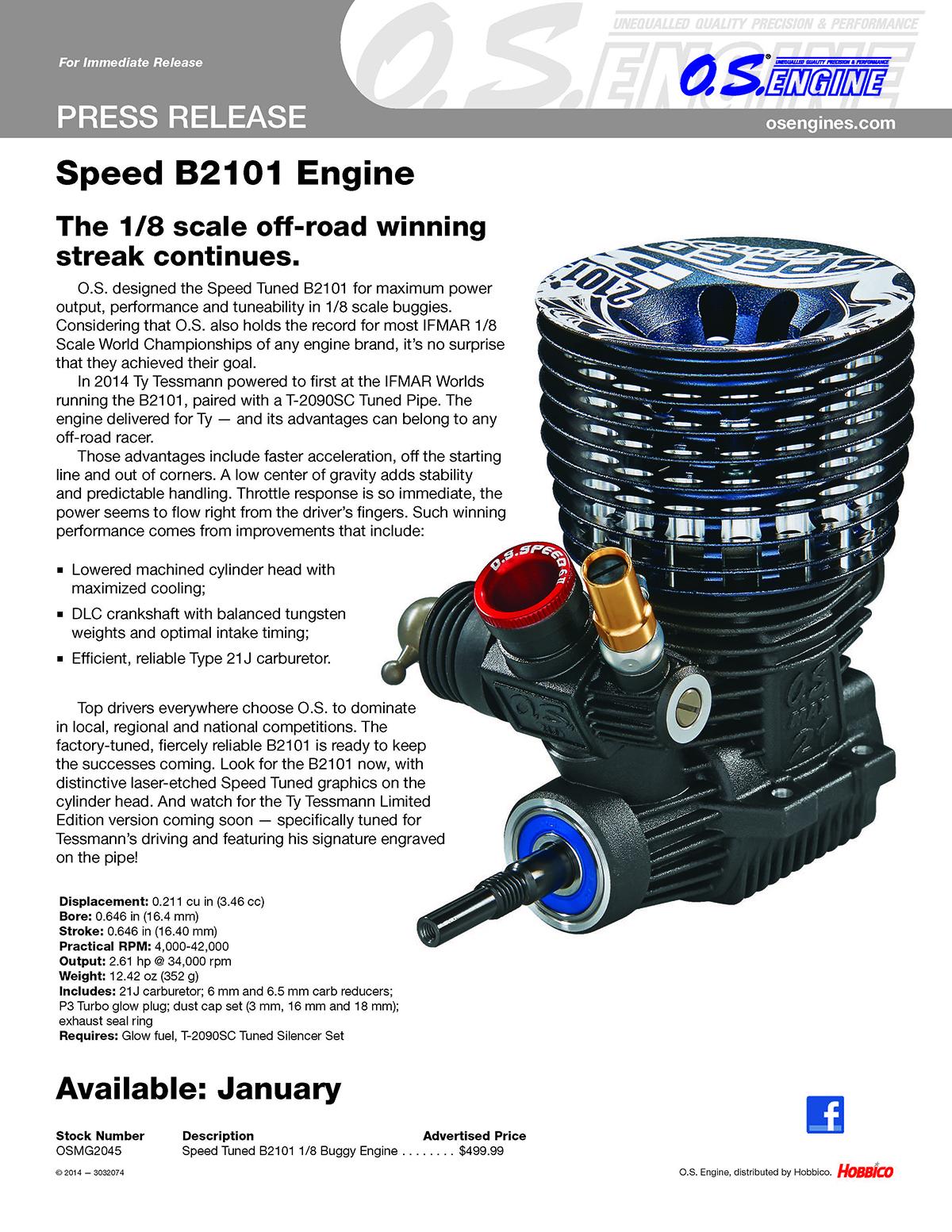 OS Speed Tuned B2101