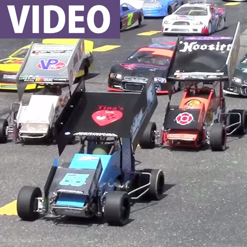 Biggest in RC: Quarter-Scale Oval Action