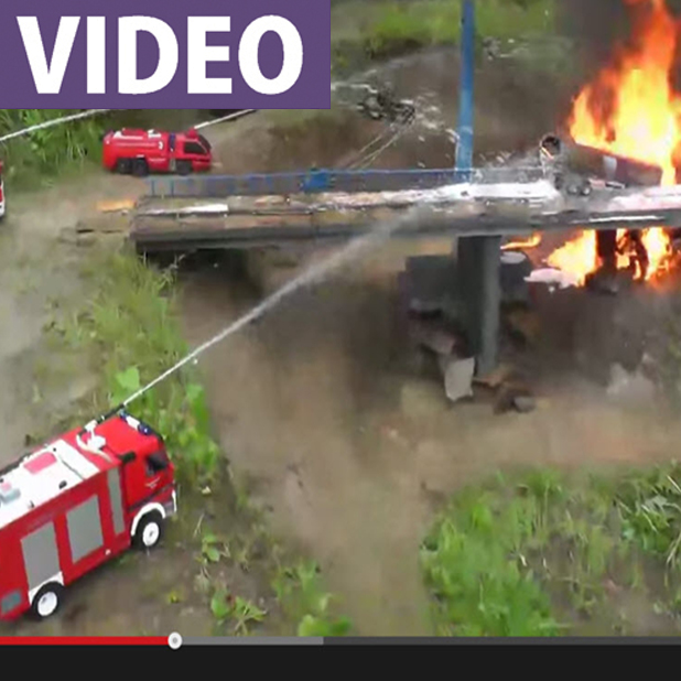 RC Fire Trucks Put Out RC Tanker Fire