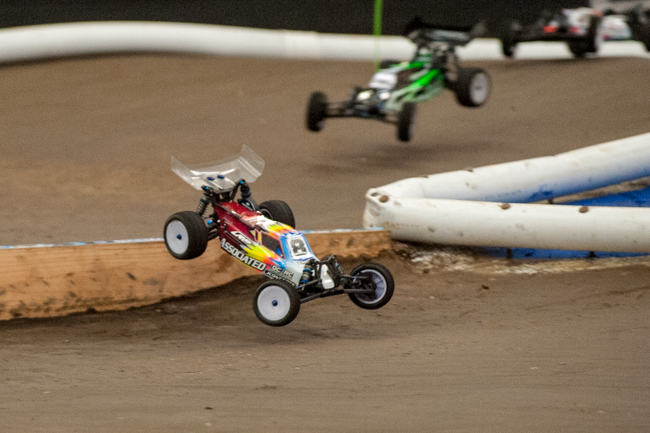It's amazing to see the best drivers in the world do battle and with the strict rules in place, it is closer than ever. Team Associated's Steven Hartson pushing hard.