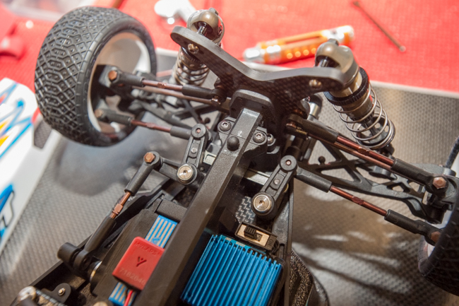 The steering system.