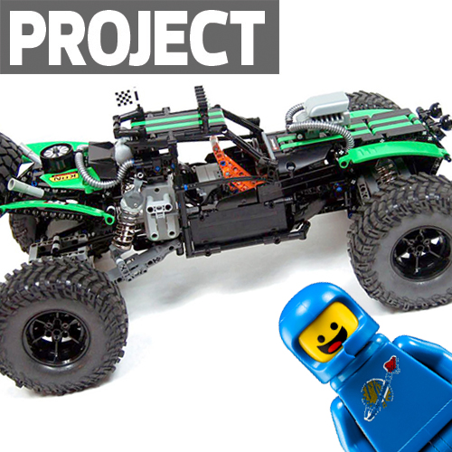 Vaterra Twin Hammers Recreated in LEGO, Controlled by SmartPhone